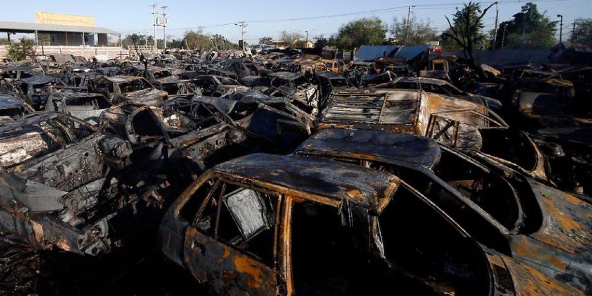 Galería: 300 autos resultaron quemados tras incendio en desarmaduría