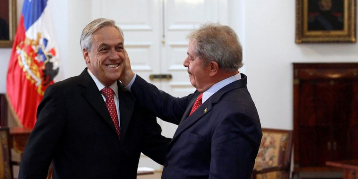 [FOTOS] Con varias muestras de cariño Piñera y Lula se reencuentran en La Moneda