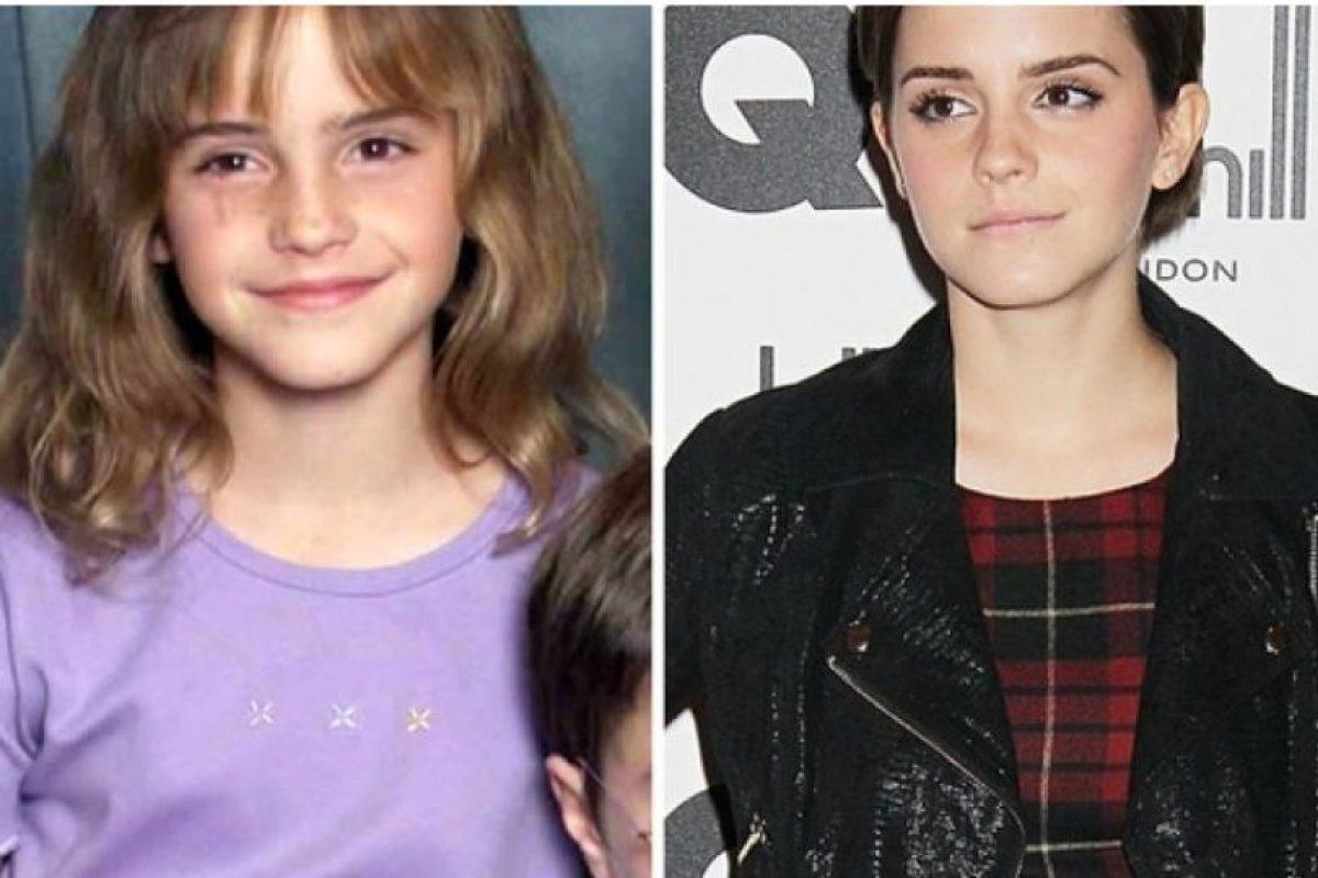 Foto:Emma Watson, antes y después Foto: toofab.com. Imagen Por: