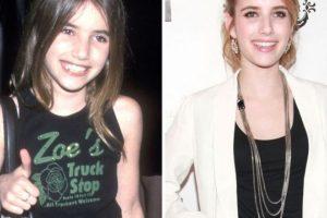 Foto:Emma Roberts, antes y después Foto: toofab.com. Imagen Por:
