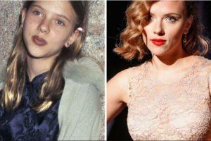 Foto:Scarlett Johansson, antes y después Foto: toofab.com. Imagen Por: