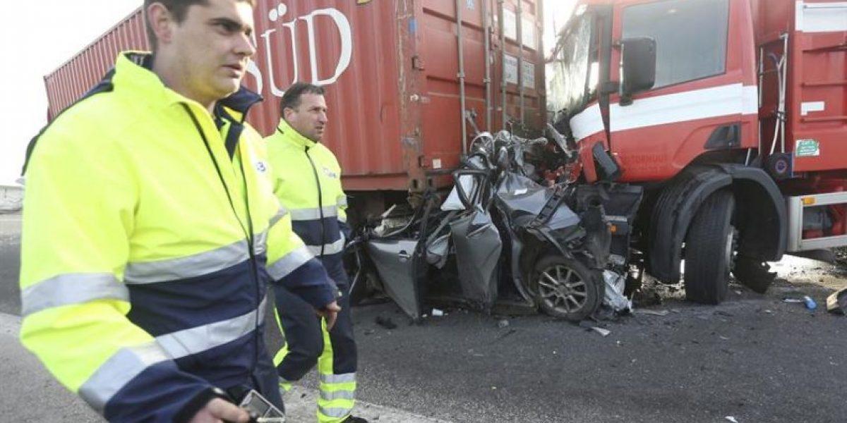 Impactantes imágenes del accidente que involucró a 40 vehículos en Bélgica