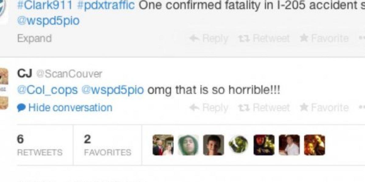 Mujer tuitea el accidente de tránsito de su esposo sin saber que era él