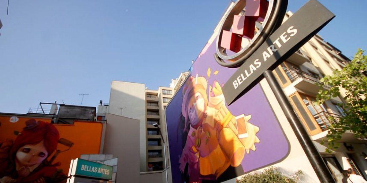 Fotos: Finalizan espectacular mural en Metro Bellas Artes