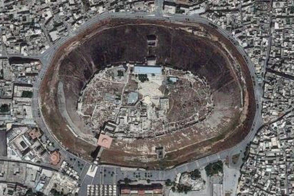 Ciudadela de Alepo, en Siria (1230 votos) Foto:Digital Globe. Imagen Por: