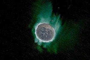 Nueva isla en Pakistán creada por un terremoto (720 «likes») Foto:Digital Globe. Imagen Por:
