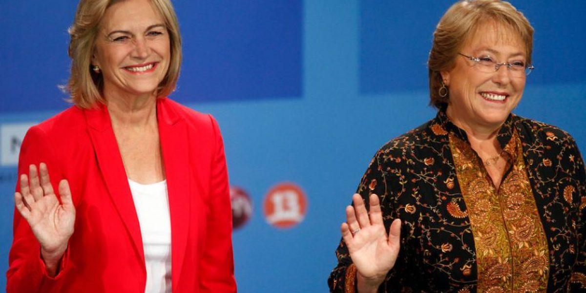 [FOTOS] Matthei y Bachelet en su último cara a cara antes de las elecciones