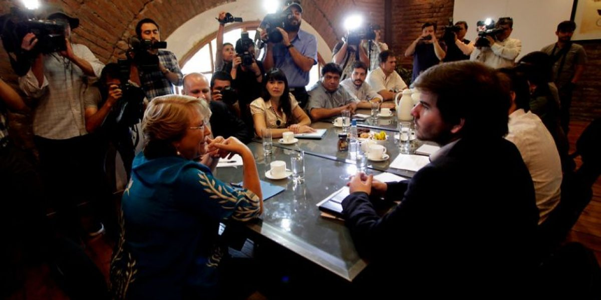 [Fotos] Bachelet recibe apoyo formal de Giorgio Jackson