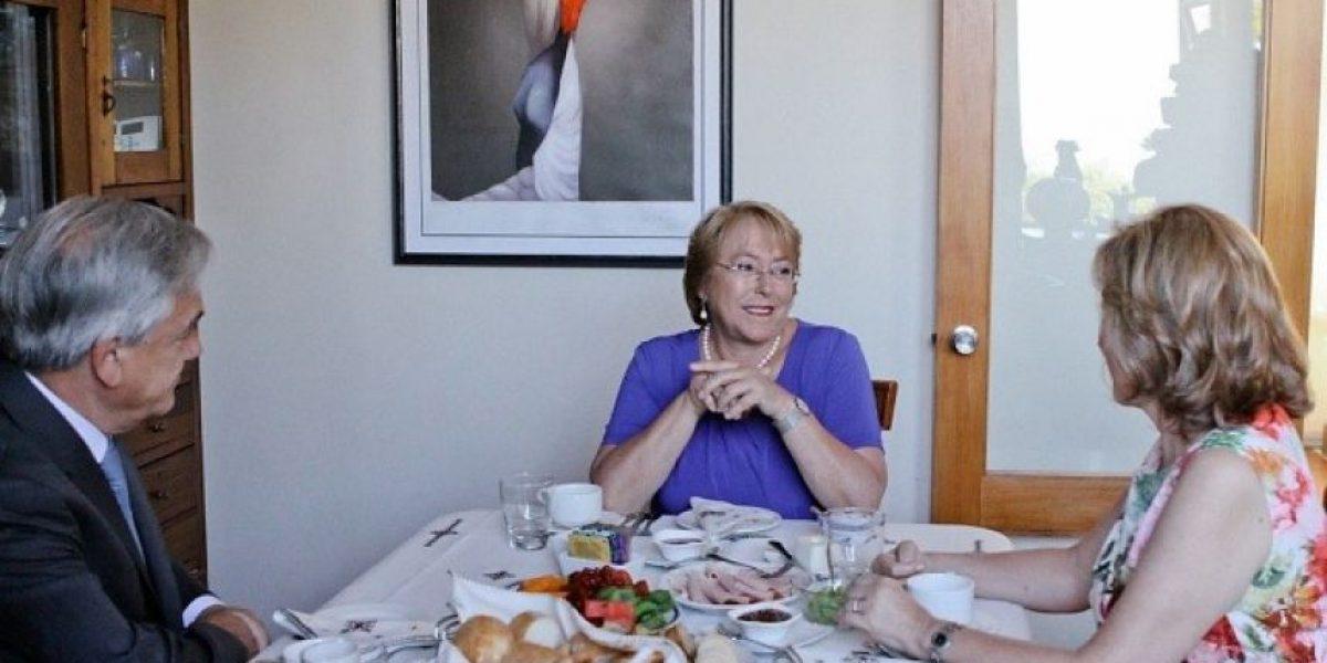 Sin declaraciones a la prensa termina reunión entre Bachelet y Piñera
