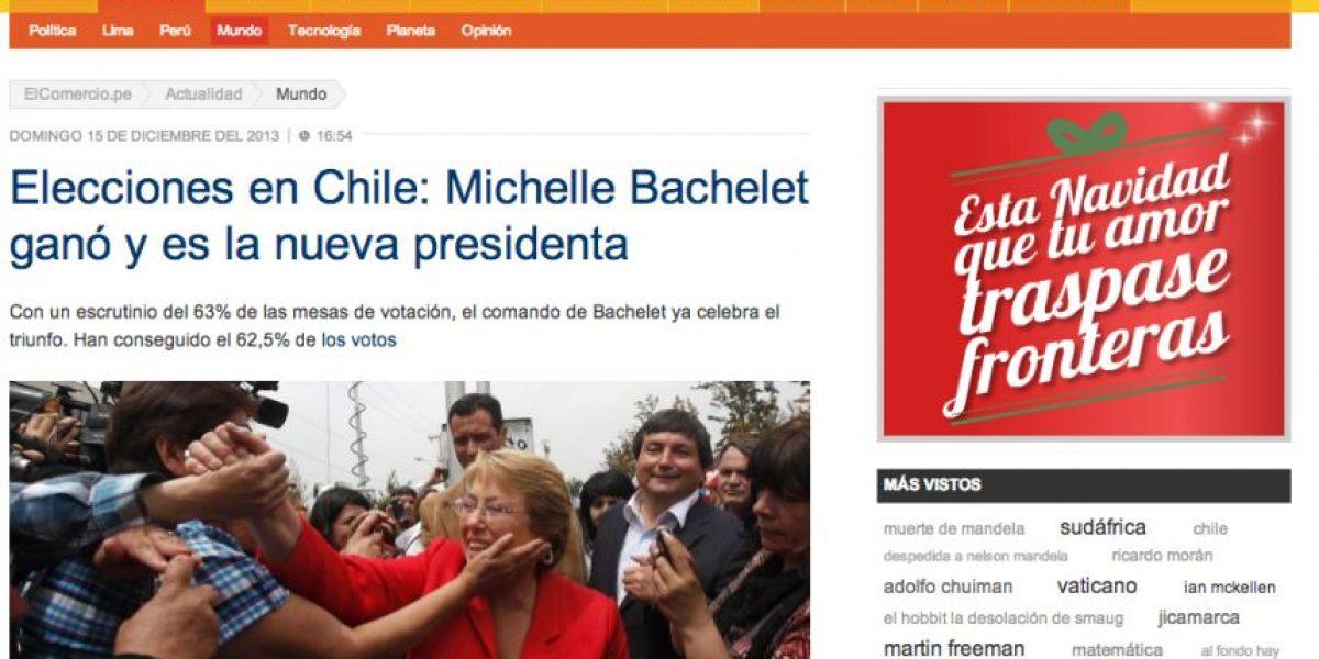 [FOTOS] Medios del mundo destacaron triunfo de Michelle Bachelet
