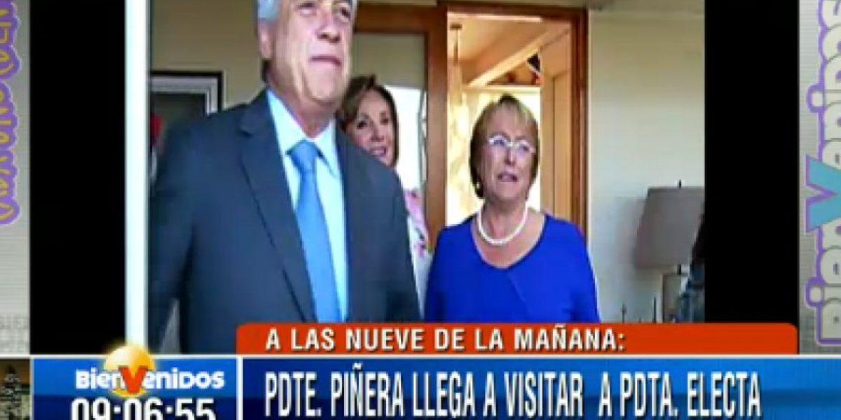Piñera desayuna con la Presidenta electa en su casa de La Reina