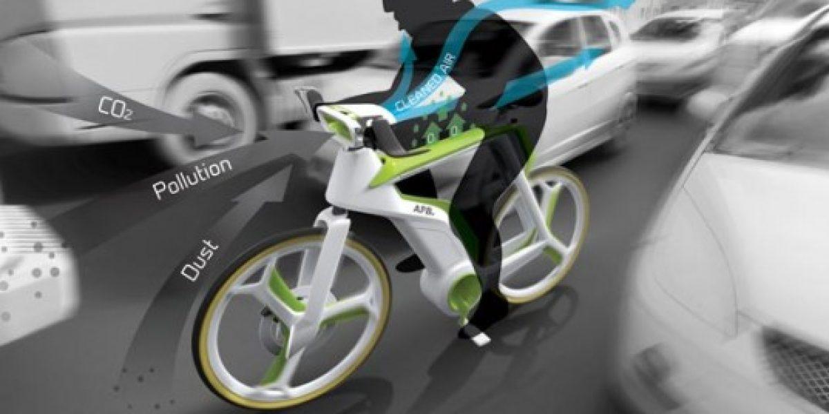 La bicicleta que purifica el aire mientras pedaleas