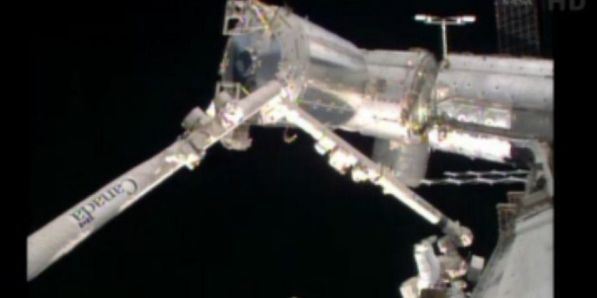 Imágenes de la segunda caminata espacial para reparar fallo en la EEI