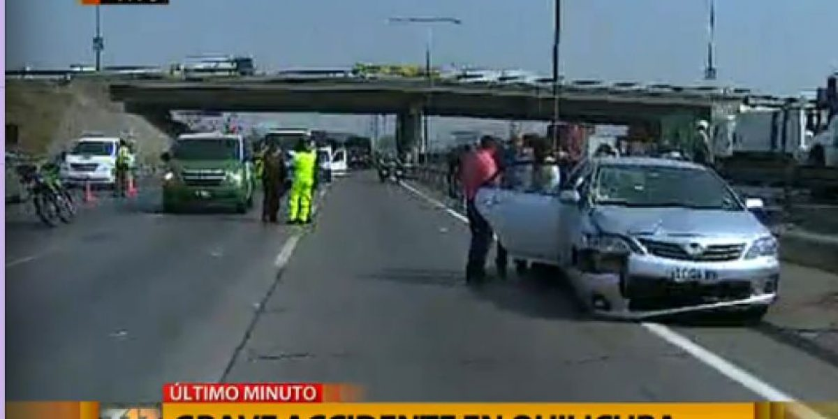 FOTOS: Accidente de tránsito en Quilicura deja una madre sin vida y a su pequeño hijo grave