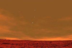 La Tierra, Mercurio y Venus visto desde Marte. En realidad una imagen creada por software. Foto:Blog Ceslava.com. Imagen Por: