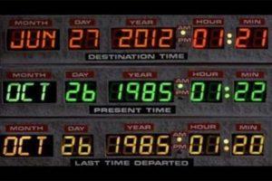 Un clásico, la imagen de Regreso al Futuro con la fecha alterada Foto:Blog Ceslava.com. Imagen Por: