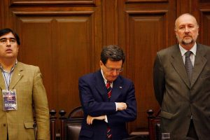 El secretario general Mario Desbordes y el senador Baldo Prokurica, fieles a la actual conducción. Imagen Por: