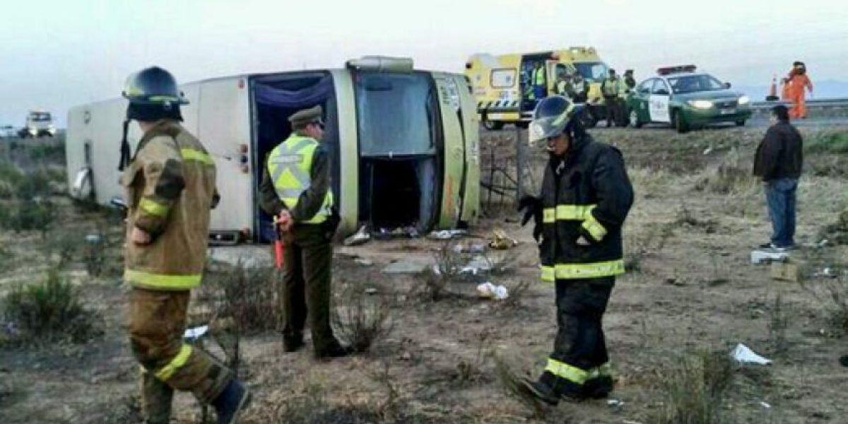 FOTOS: Volcamiento de un Turbus deja más de 30 heridos en Coquimbo