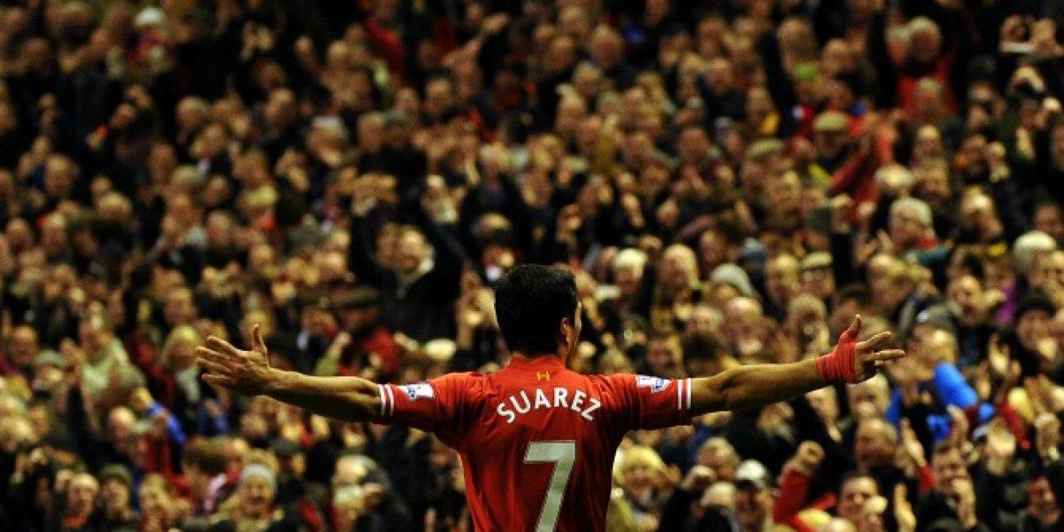 Luis Suárez intratable: Clavó la pelota en el ángulo para nuevo triunfo del Liverpool