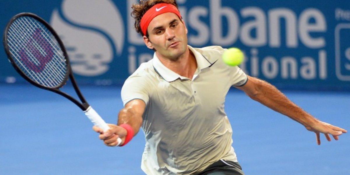 Roger Federer comenzó el año con un triunfo sólido en Brisbane