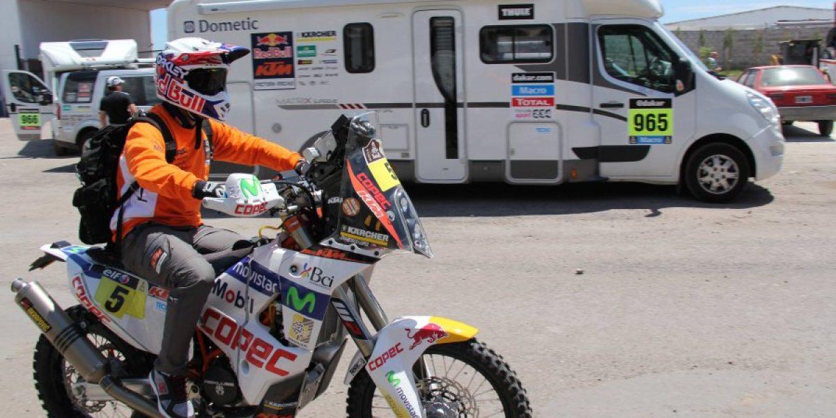 Chaleco López ya está en Rosario preparando la largada del Dakar