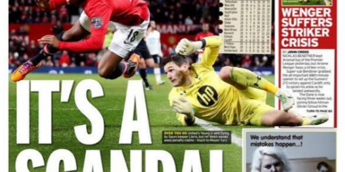 Prensa inglesa cataloga la derrota del United como un