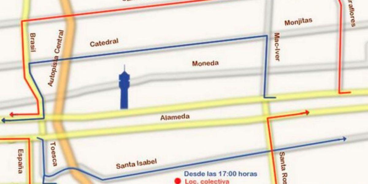 Revisa los cierres y desvíos de tránsito en centro de Santiago por 4º Etapa de Gran Explanada