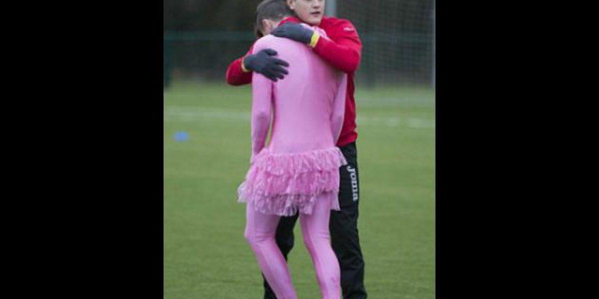 En Escocia jugador sorprendió con su uniforme con Tutú