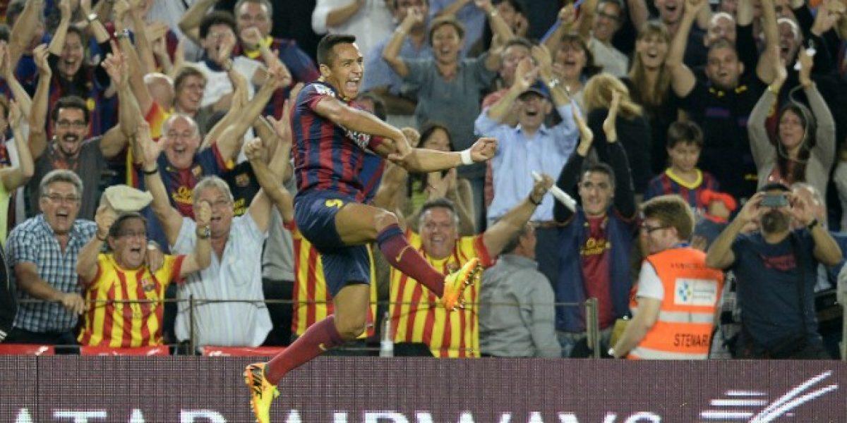 Alexis Sánchez volvió a los entrenamiento en Barcelona