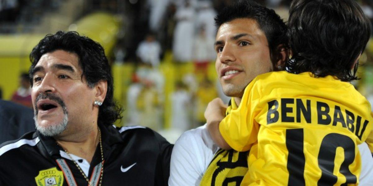Diego Maradona realizó particular amenaza si su nieto juega en Independiente