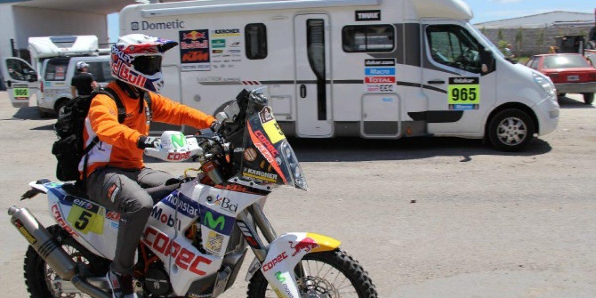 Chaleco causó sensación en Rosario y se alista para largar el Dakar