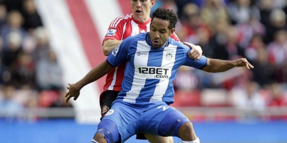 Jean Beausejour estuvo presente en el empate de Wigan en la Copa FA