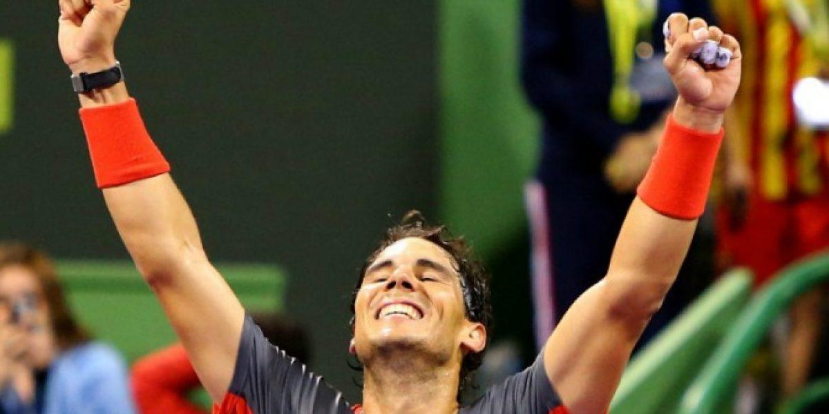 Nadal se quedó con el título en Doha tras vencer a Gael Monflis