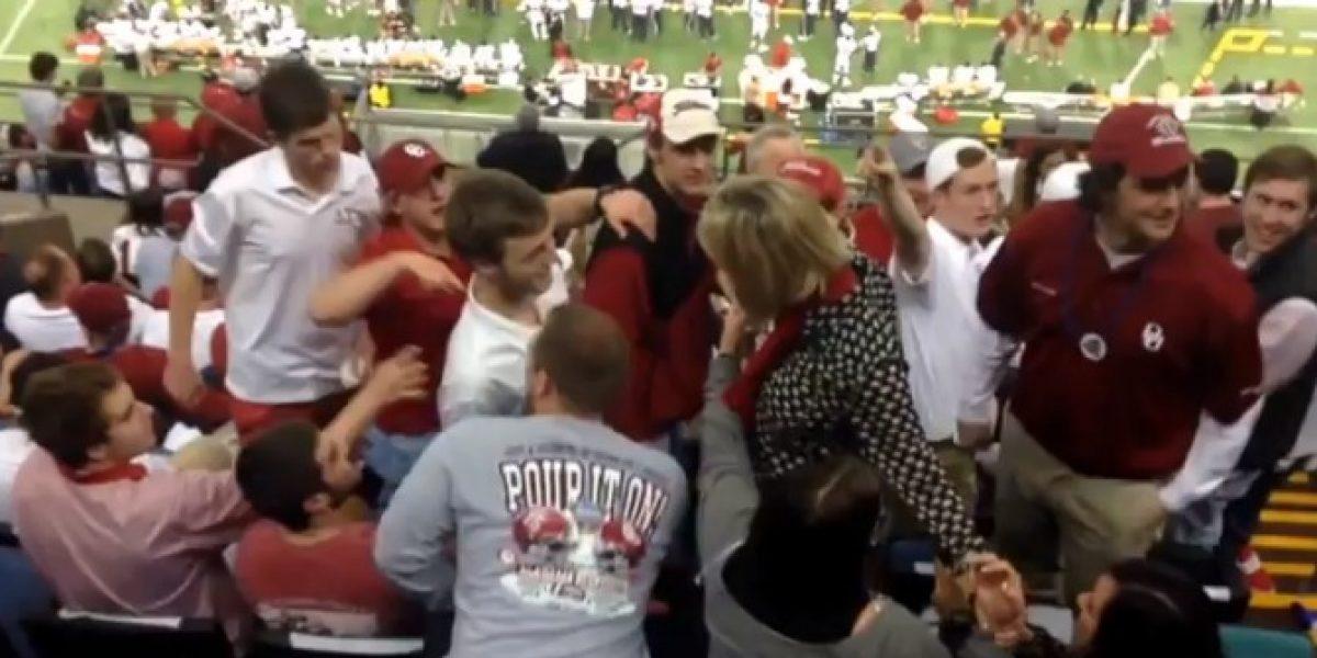 Video: Esta hincha sí que perdió los estribos por la derrota su equipo