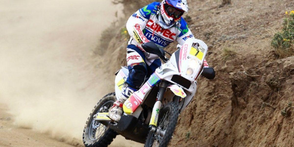 Chaleco López cumplió y remató sexto en la primera etapa del Dakar