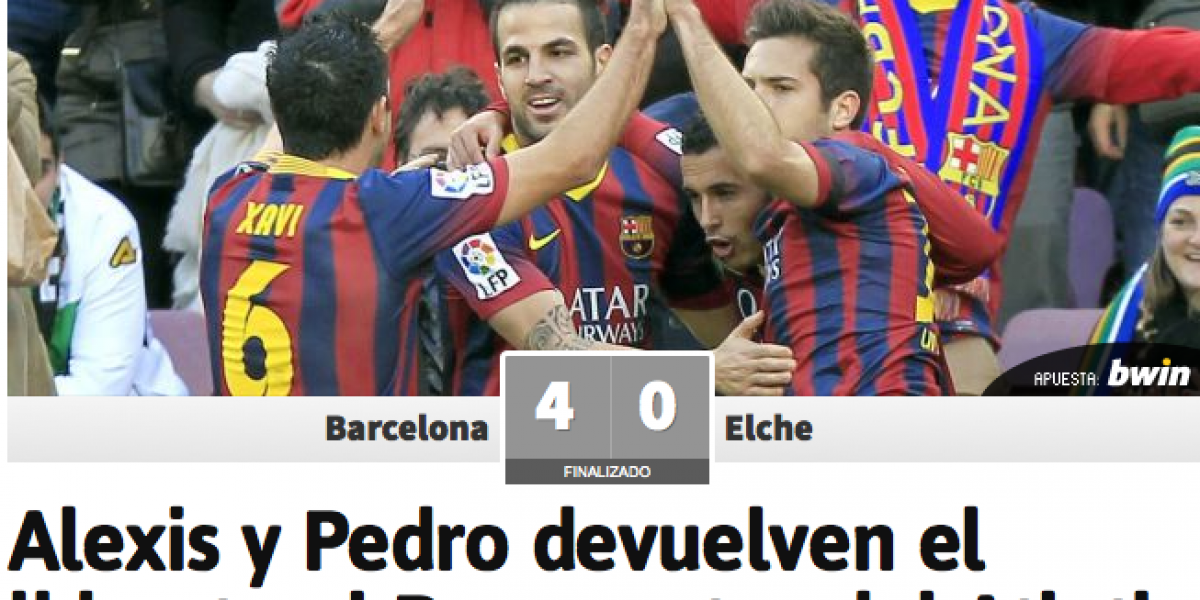 La prensa española elogió a Alexis Sánchez: