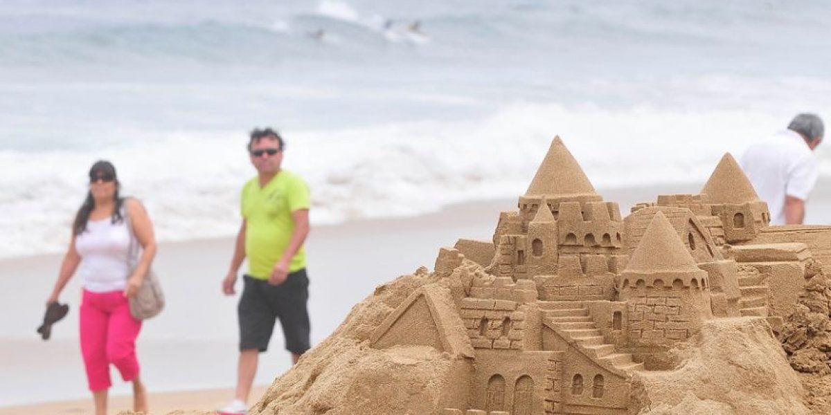 [FOTOS] En Reñaca se dio el vamos al tradicional concurso de castillos de arena