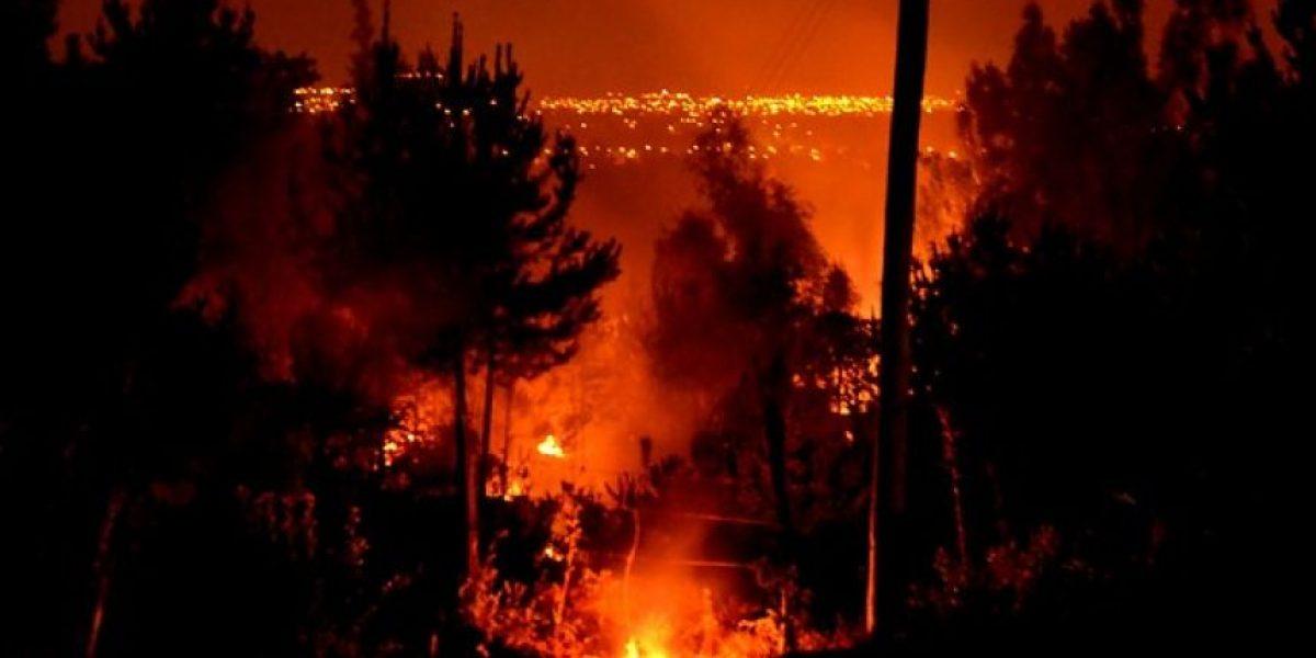 Piñera califica de intencionados los incendios que afectan la zona centro-sur