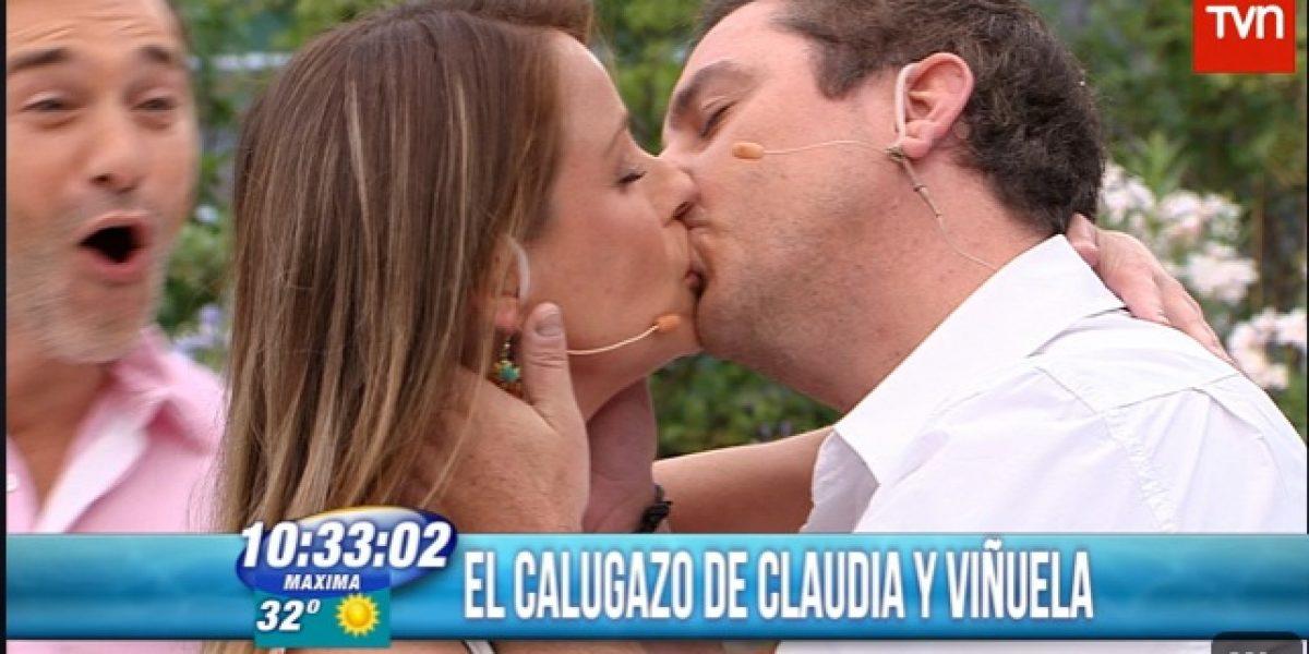 Claudia Conserva y José Miguel Viñuela se dan