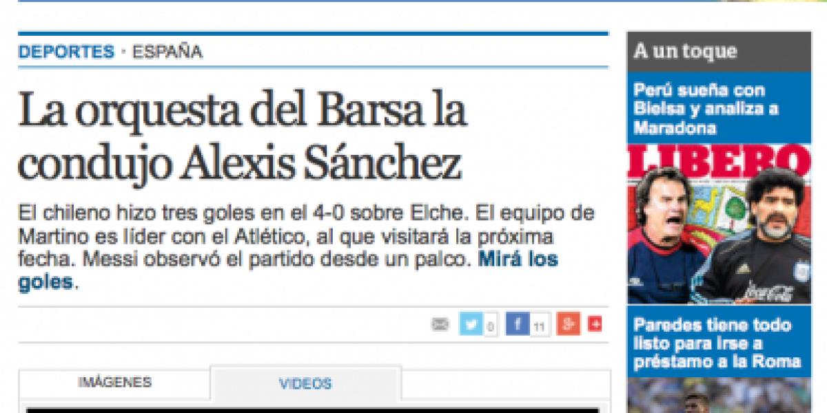 Llueven los elogios para Alexis: ¿Quién necesita a Messi y Neymar?