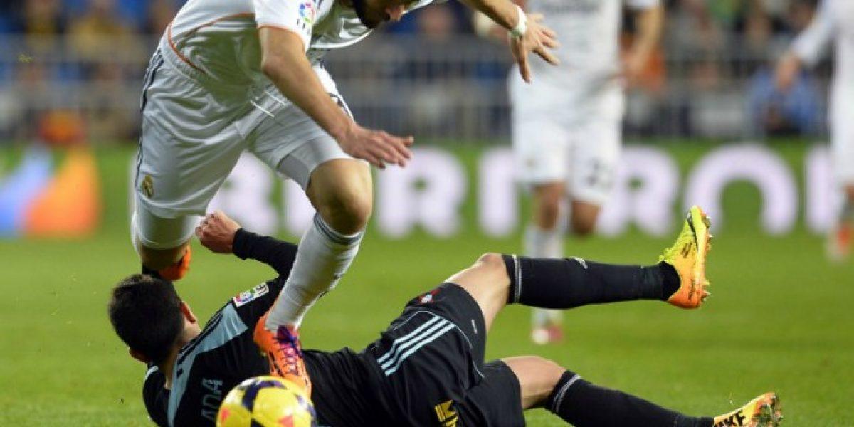 Fabián Orellana no pudo contra el Real Madrid de Cristiano Ronaldo