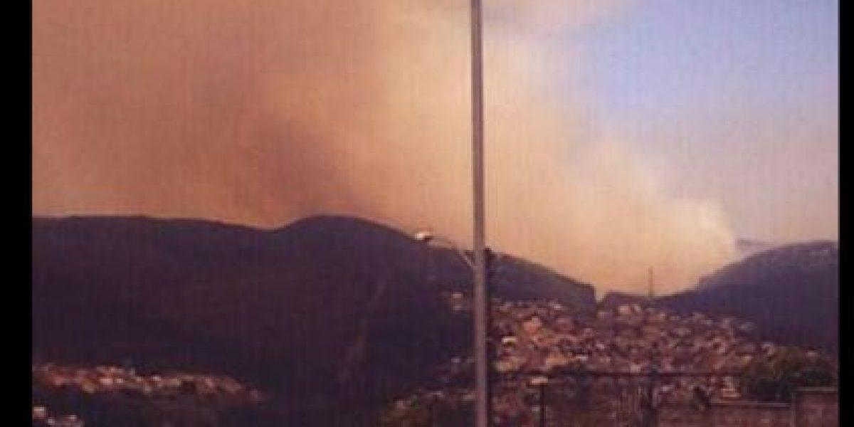 Incendio forestal en Tomé obliga evacuar a 16 familias
