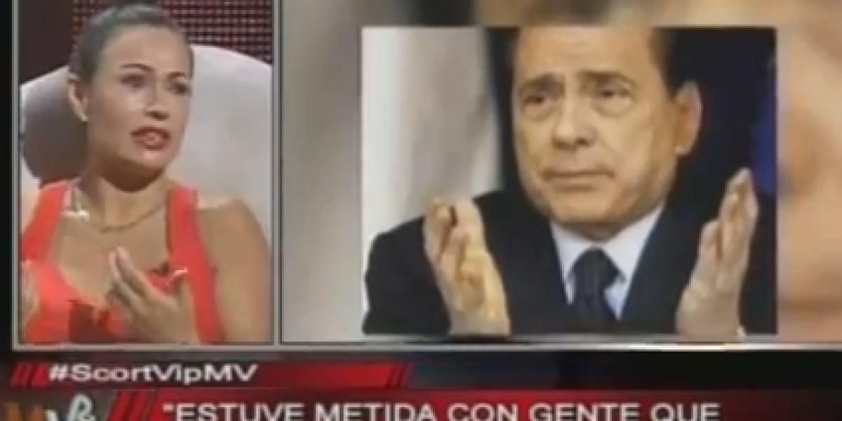 Conocida escort vip chilena habló de sus fiestas con Berlusconi en MV