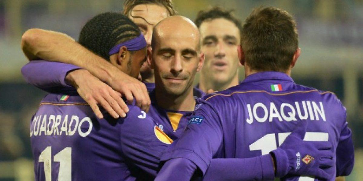 Fiorentina de Fernández y Pizarro avanzó a cuartos de final en la Copa Italia