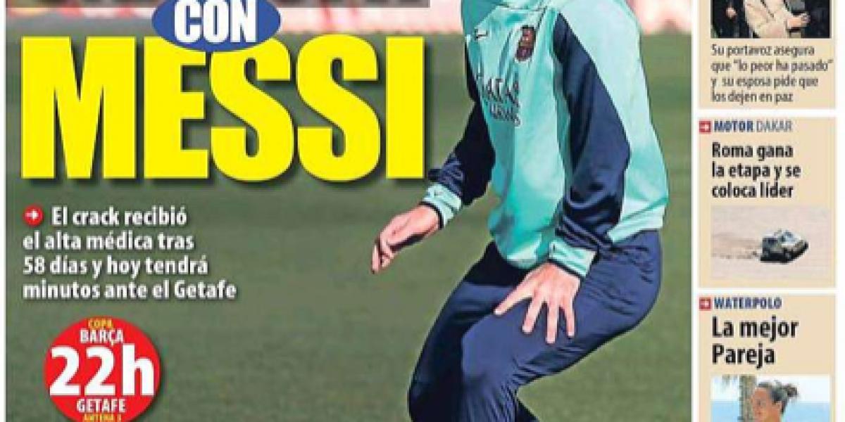 Citación de Lionel Messi acaparó las portadas de diarios españoles y argentinos