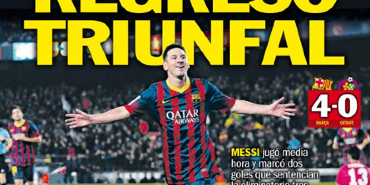En Barcelona y Argentina deliraron con la goleadora reaparición de Messi