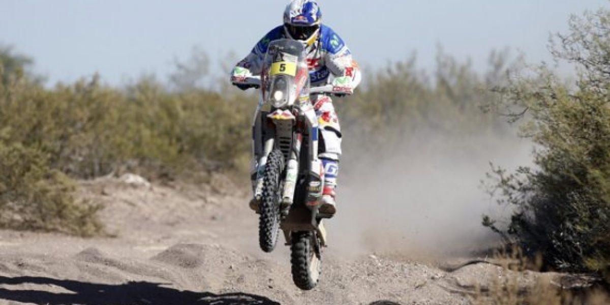 Chaleco López sufre accidente y se retira del Dakar 2014