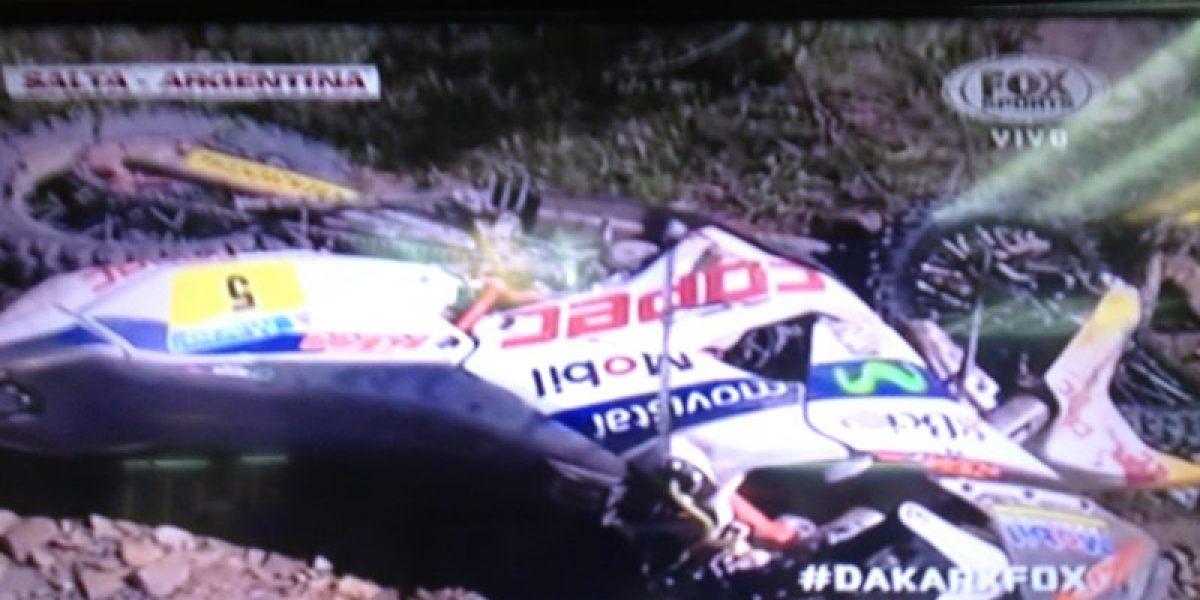 Galería: así quedó la moto de Chaleco tras el accidente que le costó abandonar el Dakar