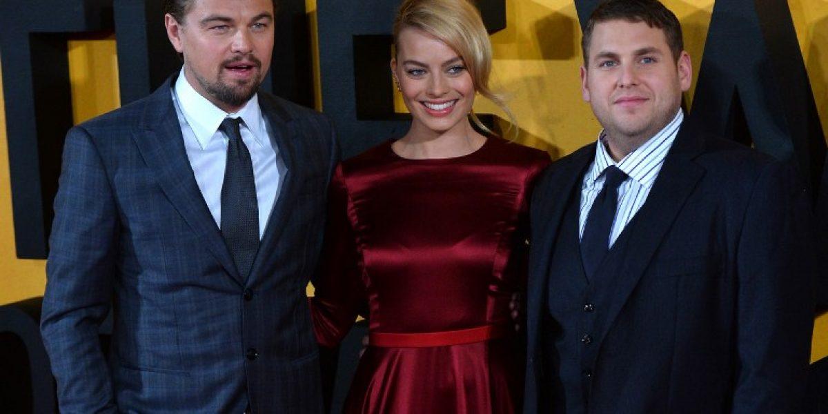 Leonardo DiCaprio y Margot Robbie radiantes en estreno de