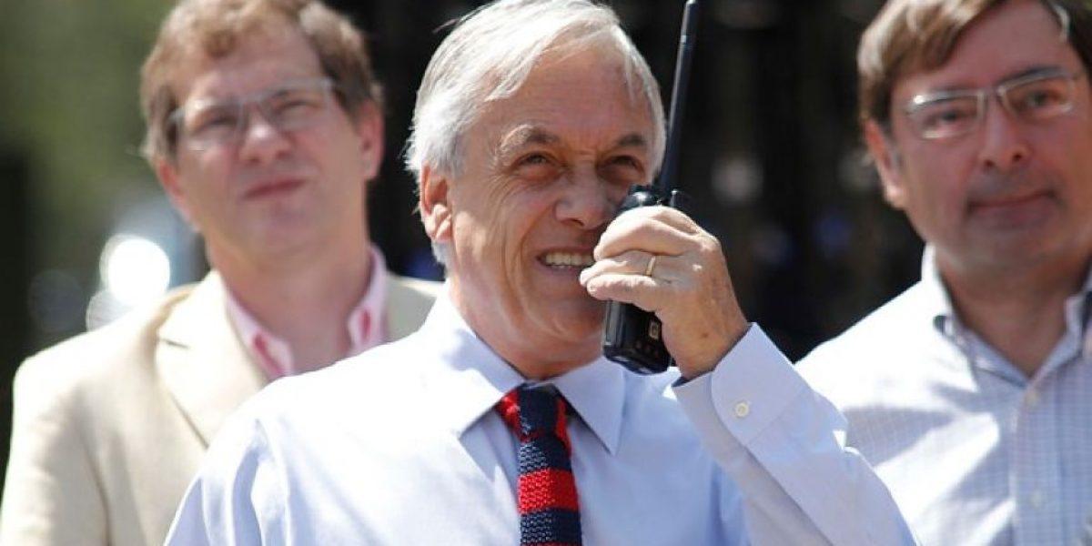 GALERIA: Piñera dio el inicio a las obras que eliminarán la rotonda Pérez Zújovic